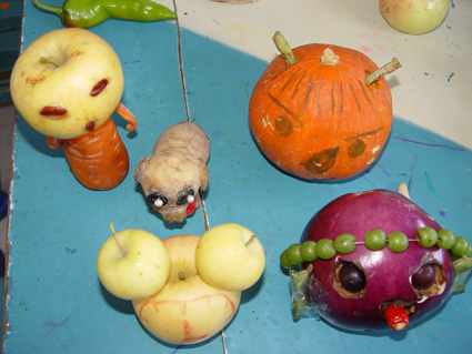 """幼儿园手工制作:""""蔬果造型,创意无限"""" 手工制作展"""
