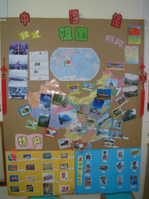 幼儿园主题墙饰图片:中国娃