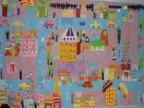 幼儿园主题墙布置:城市