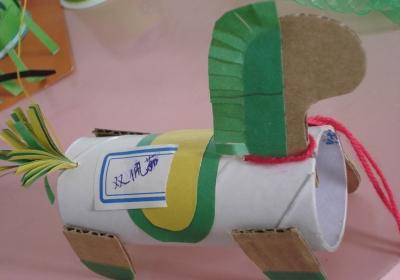 幼儿园手工制作:纸做的小马