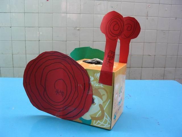 幼儿教师自制玩教具:纸蜗牛