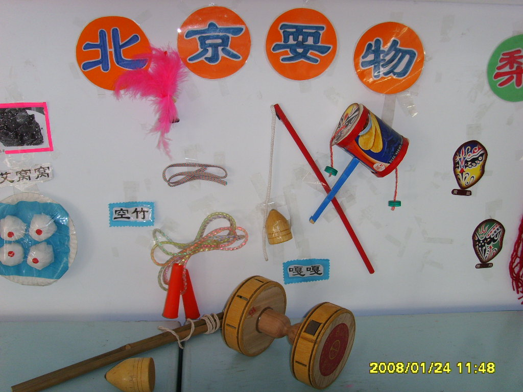幼儿园主题墙饰:北京耍物介绍