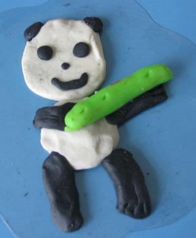 幼儿玩教具制作:橡皮泥熊猫