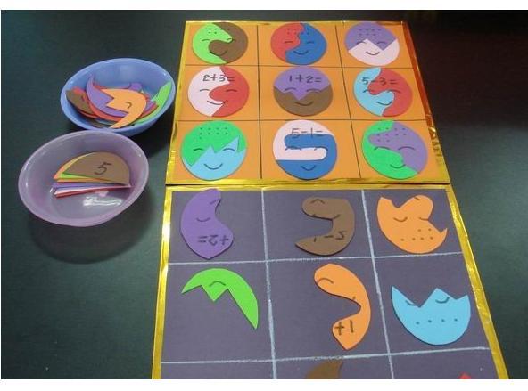 幼儿园玩教具制作:计算和配对教具-手工-图片- 资源
