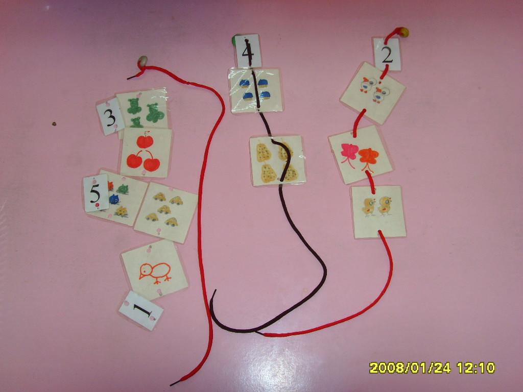 幼儿 园 玩教具制作 穿线游戏 废旧物制作 图片 幼儿园 玩