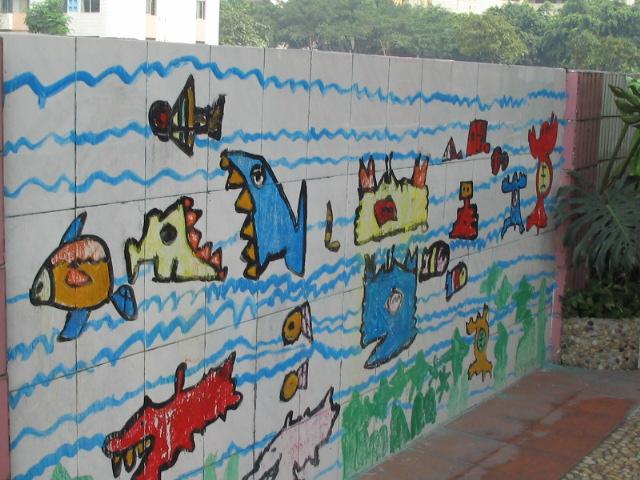 幼儿园户外环境:艺术长廊