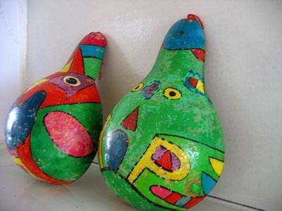 幼儿园玩教具制作:给葫芦涂色