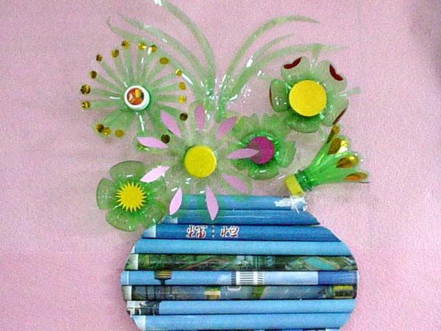 幼兒教師手工制作:花瓶