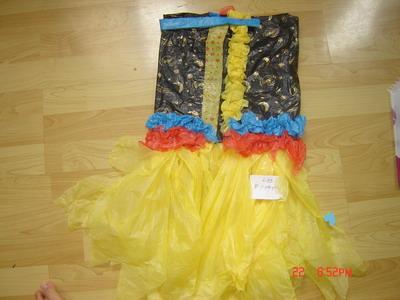 幼儿园亲子手工制作:环保服