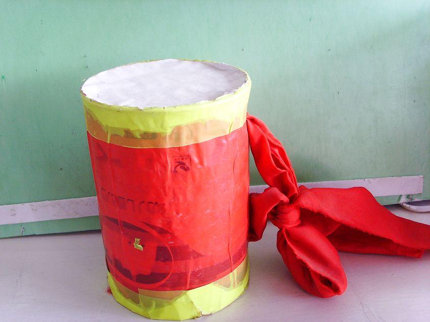 幼儿园玩教具制作:腰鼓