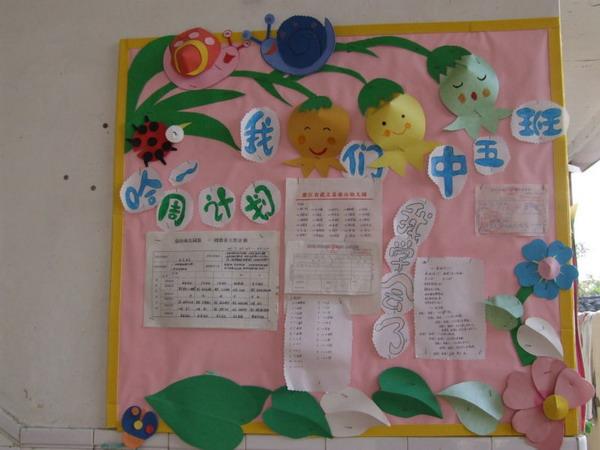 幼儿园家园栏布置:一周计划