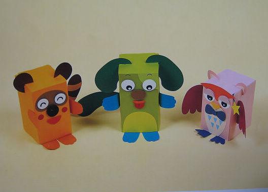 幼儿教师玩教具制作:小动物一组