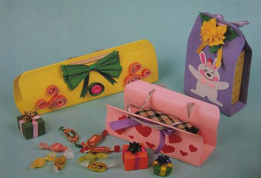 幼儿园手工展示:礼品盒