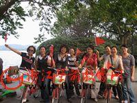 杭州新华幼托园:阳光教师金秋骑游