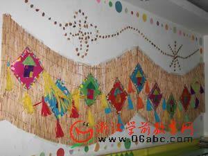 墙面装饰:稻草背景艺术墙