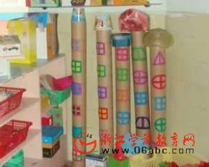环境创设-建构区:纸筒大高楼
