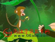 幼儿园大班故事FLASH:猴子戴手套