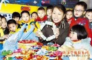 """江西安远县幼儿园:""""低碳生活""""进课堂"""