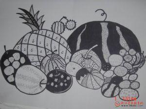 儿童线描画:水果组合