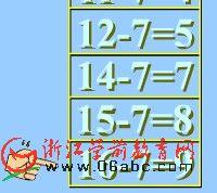 大班数学课件:第一章20以内退位减法-5计算十几减六-例一