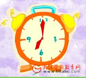 英文故事FLASH:This clock says