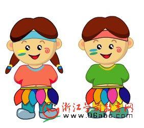 快乐英文儿歌FLASH:Ten little indian boy(十个印第安男孩)