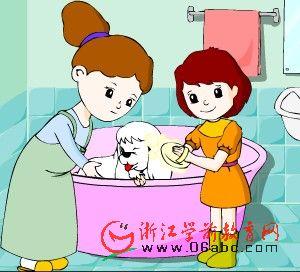 英语故事FLASH:bath time for muffy