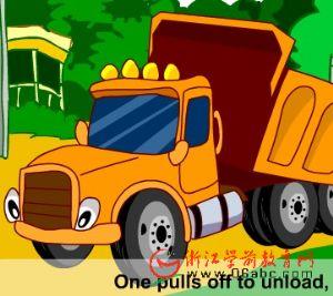 英语歌曲FLASH欣赏:Five Big Dump Trucks(五辆自动倾卸大卡车)