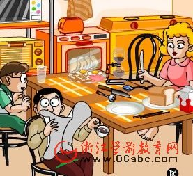 趣味英语FLASH:The breakfast hour