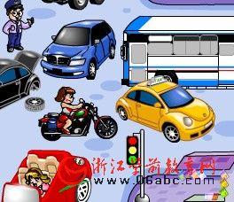 儿童FLASH英文游戏:Transportation(运输工具)