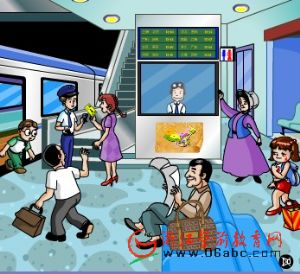 FLASH英语故事:Railway station