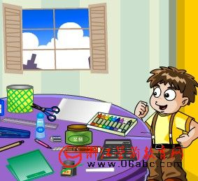 儿童英文游戏FLASH:sTationery