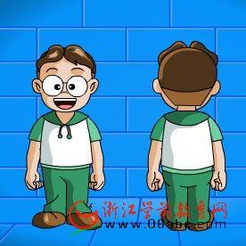 儿童英语游戏FLASH:THE BODY PARTS