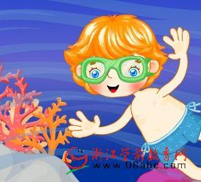 儿童FLASH英文故事:Underwater fun(水底乐趣)
