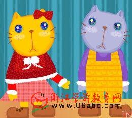 儿童英文歌曲FLASH:Three_Little_Kittens