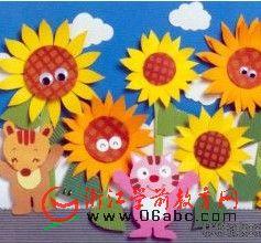 幼儿园夏天墙面布置:朵朵葵花向太阳