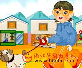 儿童英语故事FLASH:vern visits the village