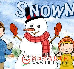 儿童FLASH英语故事:A snowman