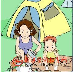 儿童英语故事FLASH:Camping