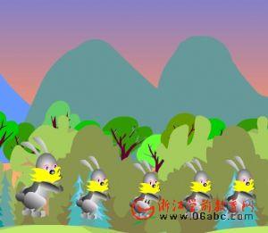 幼儿园早操歌FLASH:天上的早霞好像百花开放