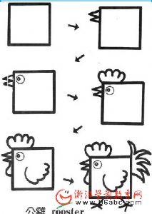 幼儿园创意美术素材:方形 变变变