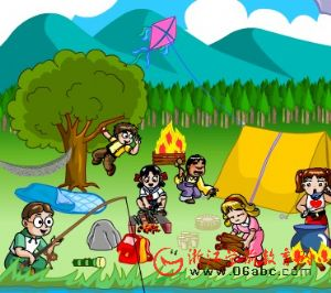 儿童学英语FLASH:camping outside
