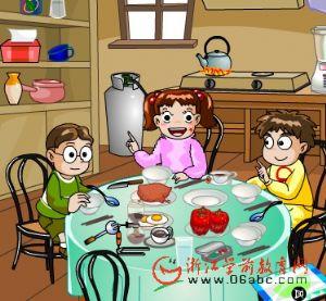 儿童学英语FLASH:dinner set
