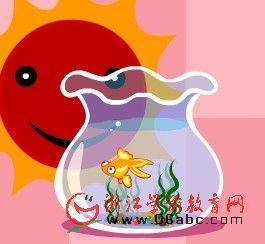 幼儿园小班英文歌曲FLASH:Little Goldfish(小金鱼)