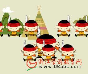 幼儿园小班英文歌曲FLASH:tenlittleindias(十个印第安人)