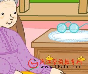 英文儿歌Flash在线看:GrandmasGlasses(奶奶的眼镜)
