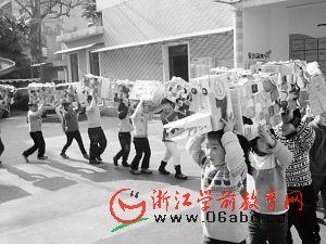 看杭州的幼儿园 年味十足