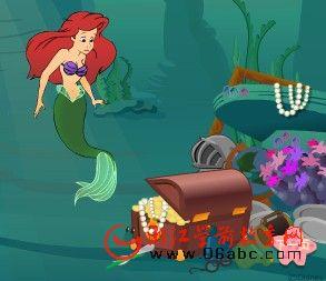童话故事FLASH欣赏:艾莉儿的世界(小美人鱼)
