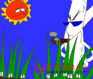 童话小故事FLASH欣赏:白杨树和马斑草