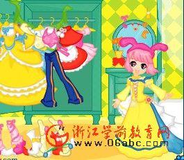 益智游戏FLASH欣赏:快来为小公主打扮
